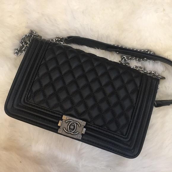 ab0958ca80b9 Bags | Chanel Boy Bag Large | Poshmark